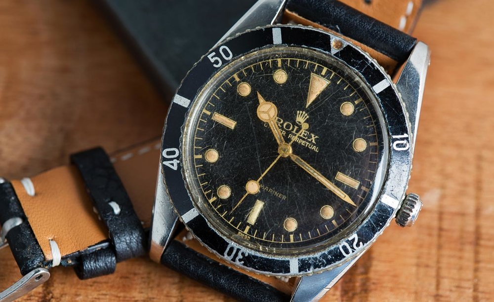 If you don't know what parts are service replacements on this Rolex Ref. 6204 then you shouldn't invest in it to make money. Photo courtesy of Bob's Watches.