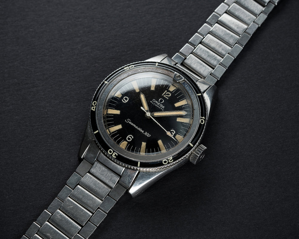 An Omega Seamaster 300 CK2913 with service sword hands. Photo courtesy of Watches of Knightsbridge.