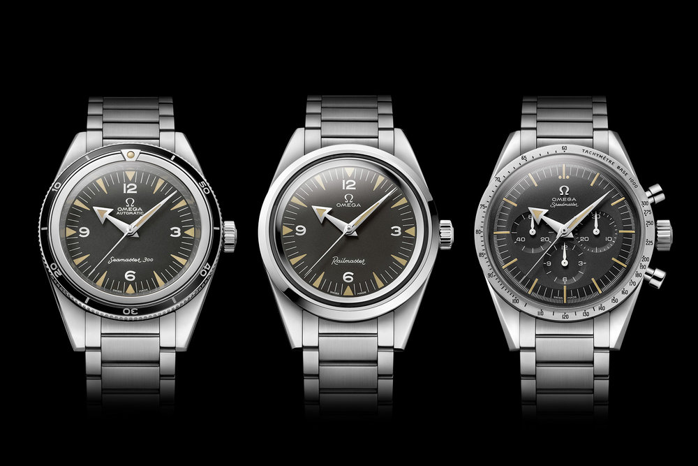 The 2017 '1957' Trilogy. Photo courtesy of Omega.