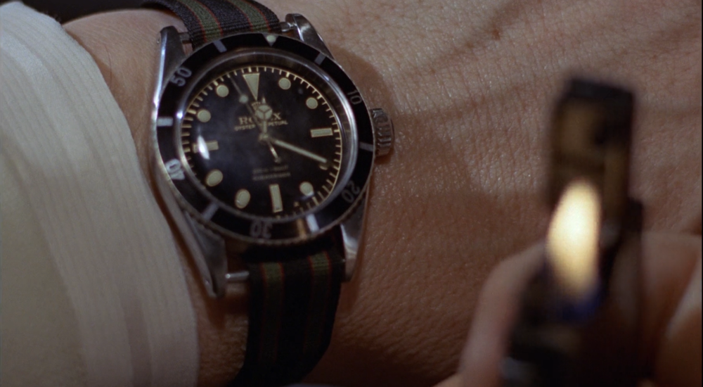 The Rolex Submariner Ref. 6538 in its most iconic scene in Bond history.