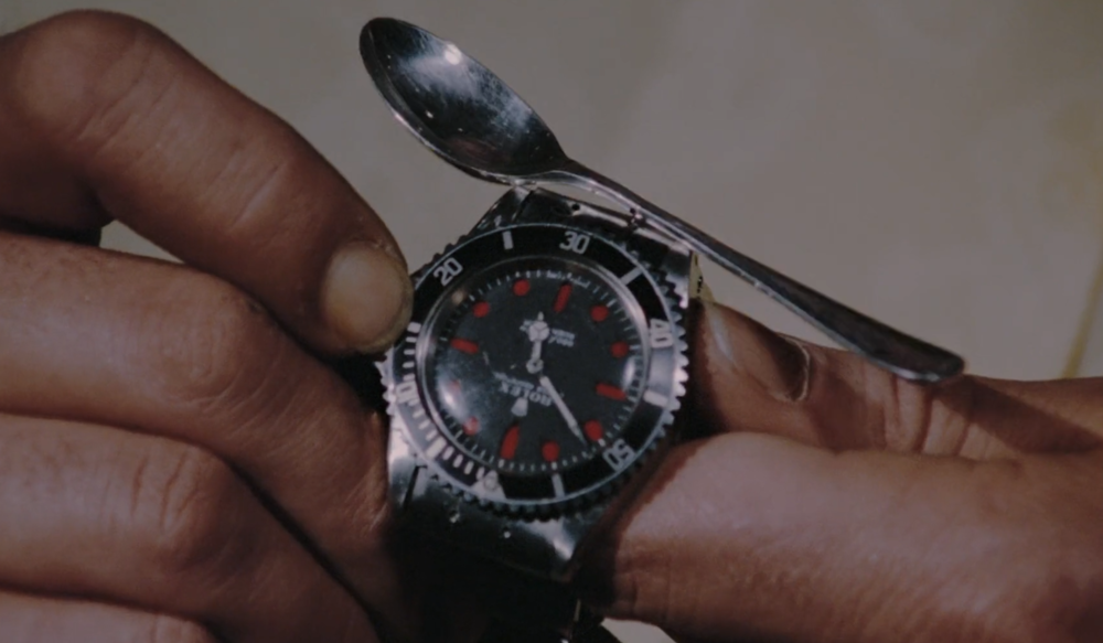 The clearly modified Rolex Submariner Ref. 5513 from  Live and Let Die .