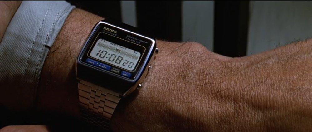 The Seiko M354 Memory Bank Calendar as seen in Moonraker.