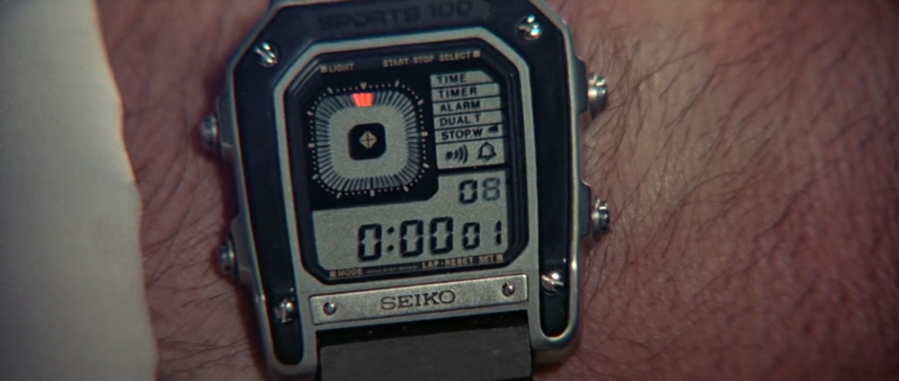 The Seiko Ref. G757 Sports 100 as seen in Octopussy.