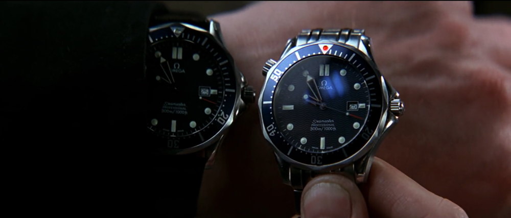 You know 006 is evil because he wears his Seamaster on a black leather strap.