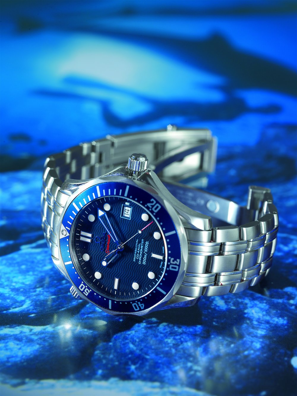 The Omega Seamaster 300 worn by Daniel Craig during Casino Royale. Photo courtesy of Antiquorum.