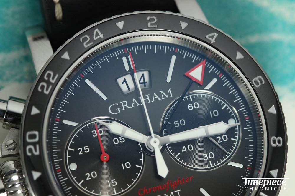 Graham Chronofighter Vintage GMT Dial macro 1.JPG