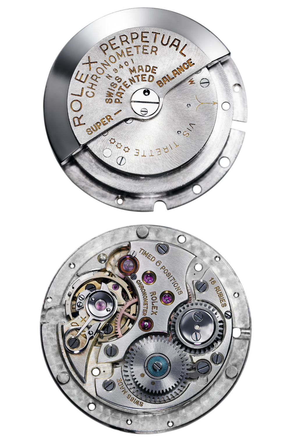 The first Rolex Perpetual movement. Photo courtesy of Rolex.