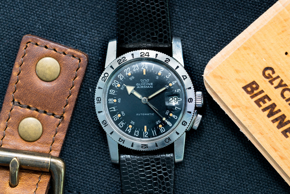 The defacto look for the Glycine Airman for the next 40 years. Photo courtesy of Those Watch Guys.