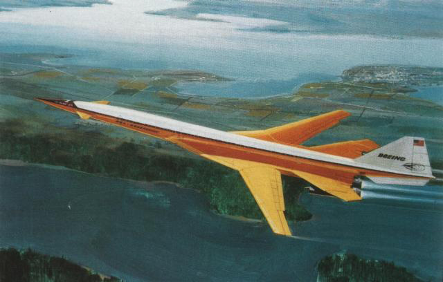 A concept design for the Boeing 2707 SST. Maybe this proposed orange detailing inspired the Glycine color scheme?