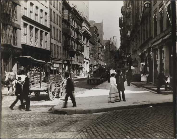 New York's Maiden Lane circa 1890
