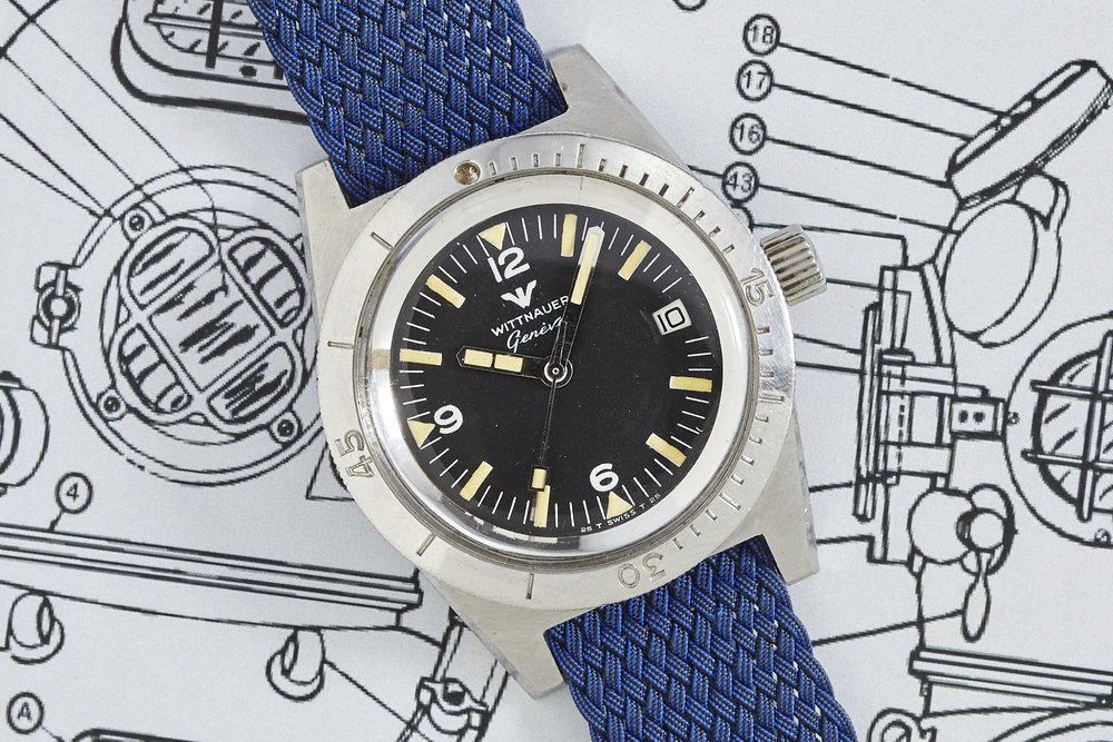 A simply gorgeous Wittnauer Dive watch, photo courtesy of Analog/Shift