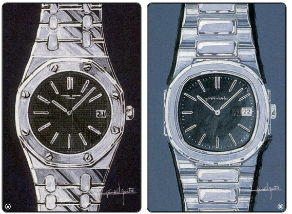 Genta's early design of the Royal Oak.