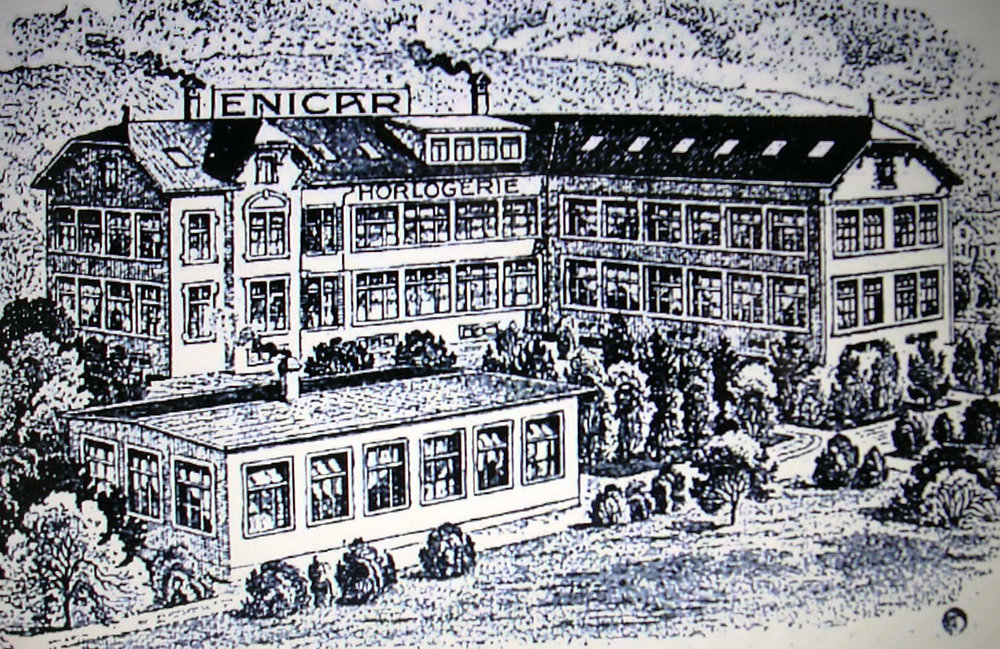 The Enicar factory in La Chaux de Fonds