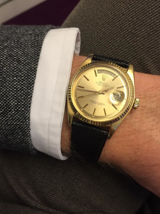 Not for sale. Toby's Rolex Day-date Ref. 1803 given to him by his Father.
