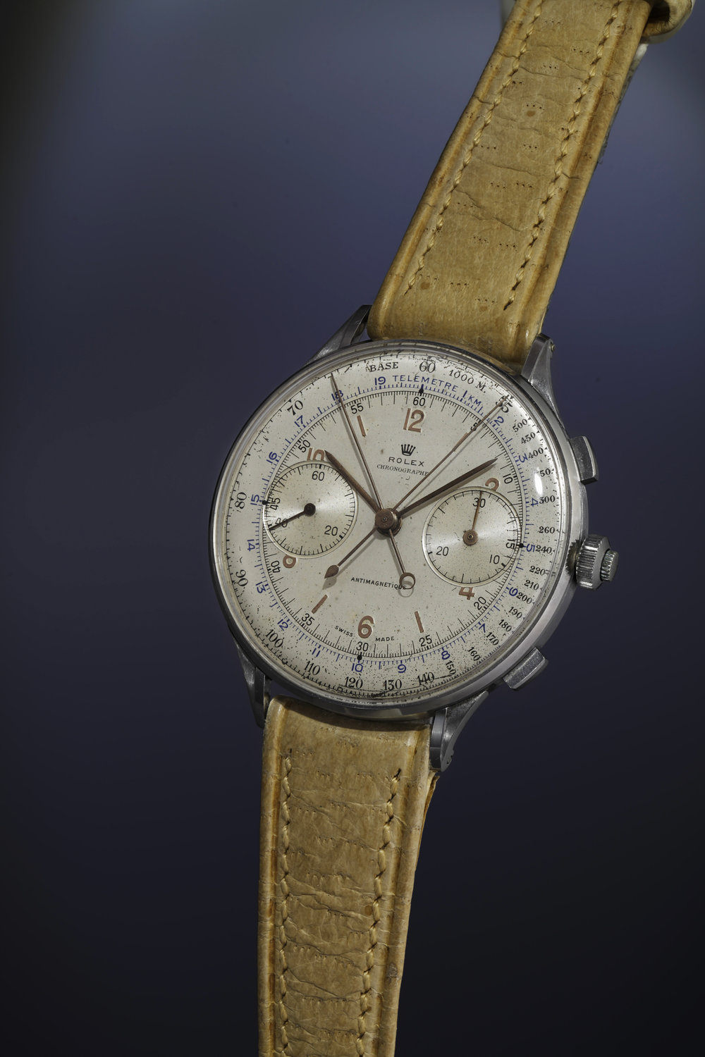 A 1942 Rolex Ref. 4113 Split-Seconds that sold for $1,161,436 in 2013 and $2,405,000 last weekend. Image courtesy of Phillip's