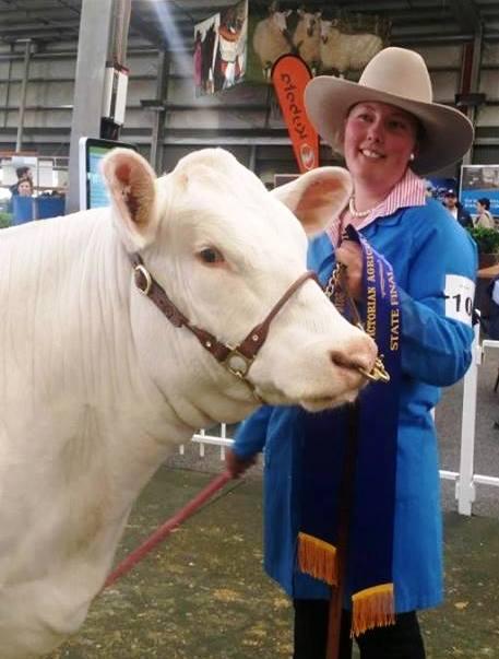Erin Arnott - Victorian State Final Winner Beef Handling