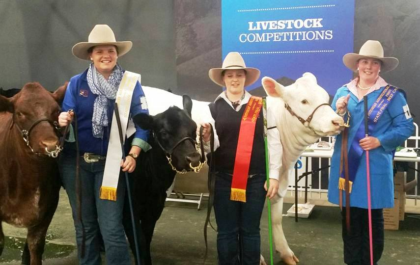 2016 Beef Handling State Final - 3rd Diana Branson 2nd Tiffany McLauchlan 1st Erin Arnott