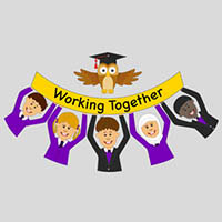 2. Add your full colour  school logo   Send us your logo or let our design studio professionally design yours for you.