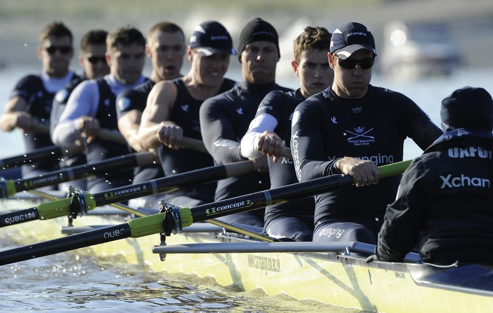 The Oxford coxswain (r) motivates his team as they row against Cambridge at the annual  Boat Race between the two prestigious universities. Motivation can be used as a tool when a team or individual is not performing well and reminds struggling athletes of previous successes.  Image supplied by Action Images.