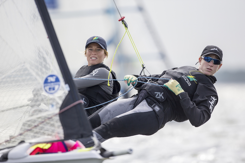 Sarah Cook (r) and Elise Rechichi in action. Both women will have their sights firmly set on Rio.