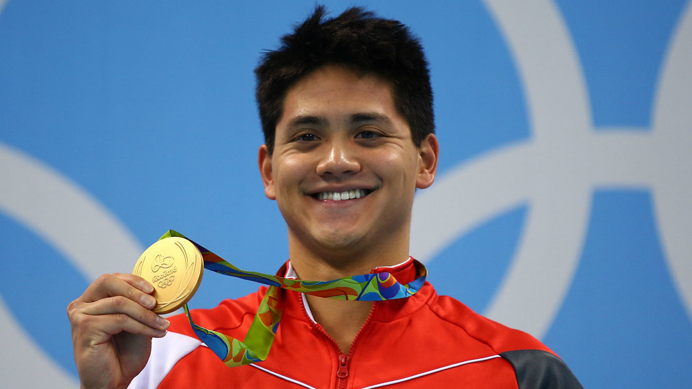 Joseph Schooling is all smiles as he becomes Singapore's first ever Olympic gold medalist in Rio 2016.