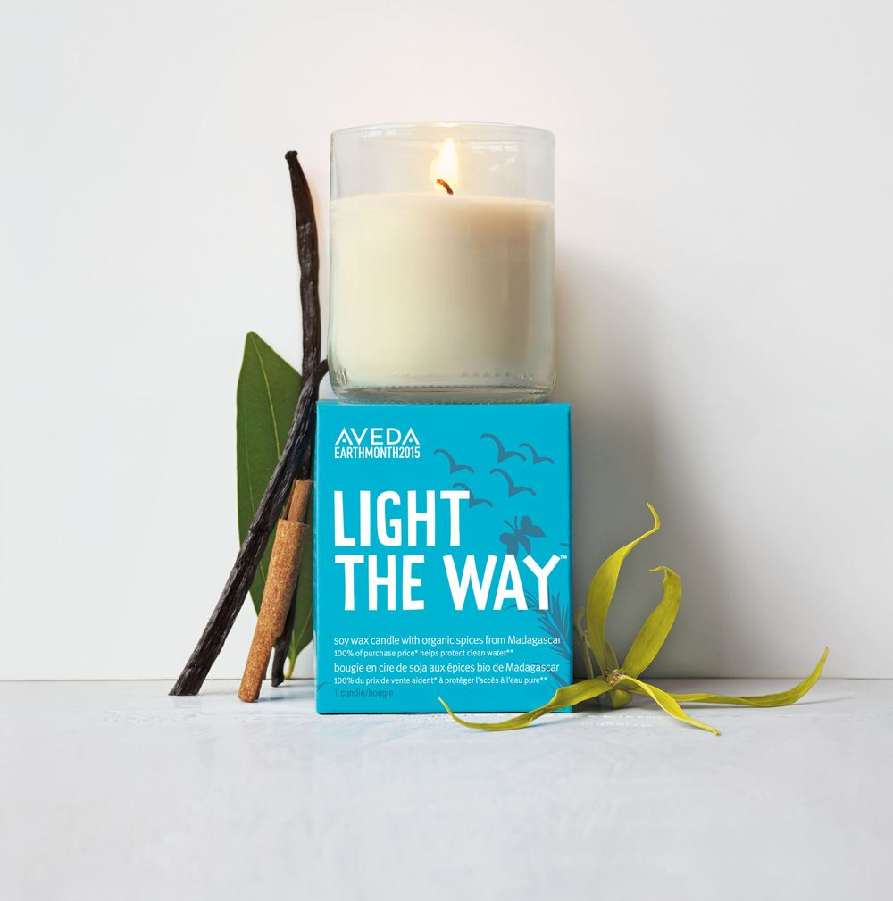 100% of the purchase price of AVEDA'sLight The Waycandlesupports Global Greengrants Fund.