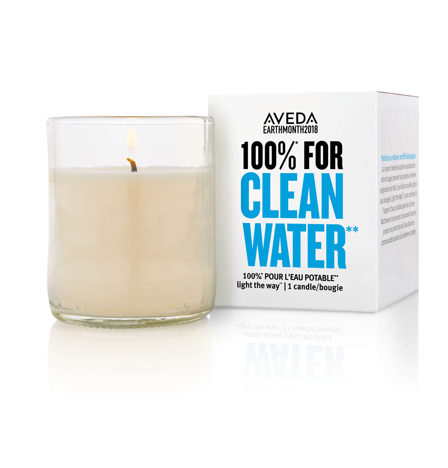 GIVE 100% with a light the way candle