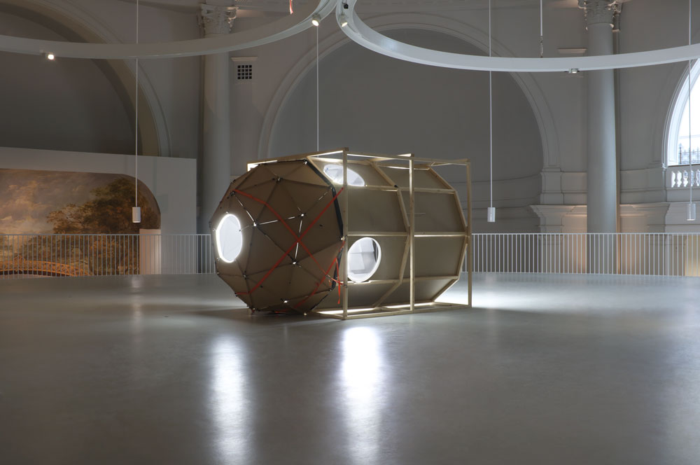 The One-Way Ticket / Space Capsule / installed at the Victoria & Albert Museum, London 2013