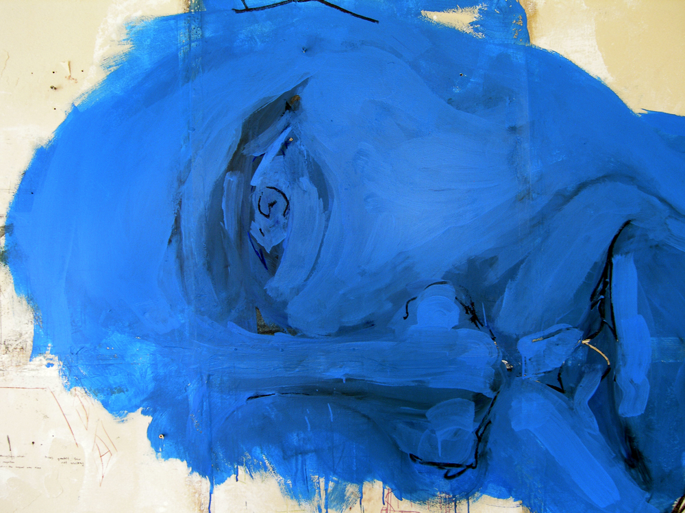 Large Blue Face