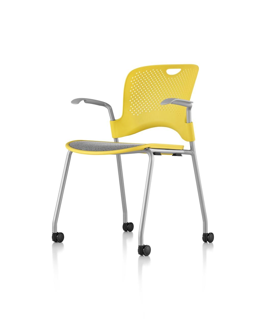 Versjon med Flexnet sete og Metllic Silver ramme, plast rygg.