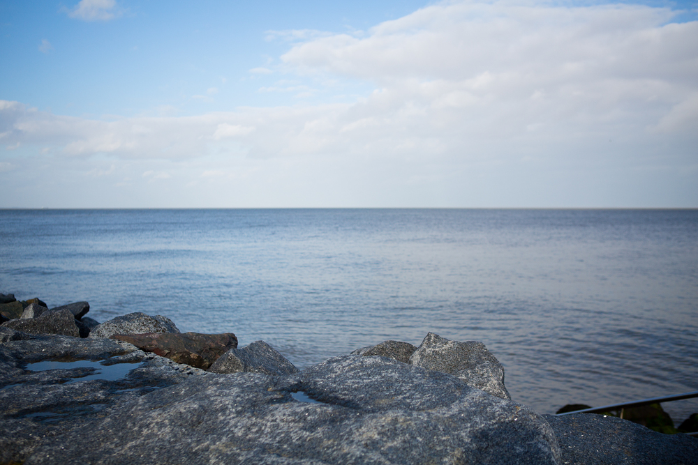 view over the sea at walton on naze