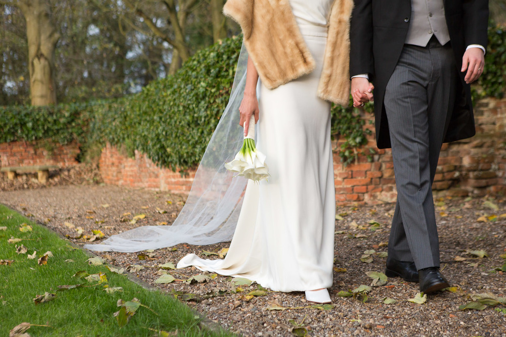 winter wedding details at Leez Priory