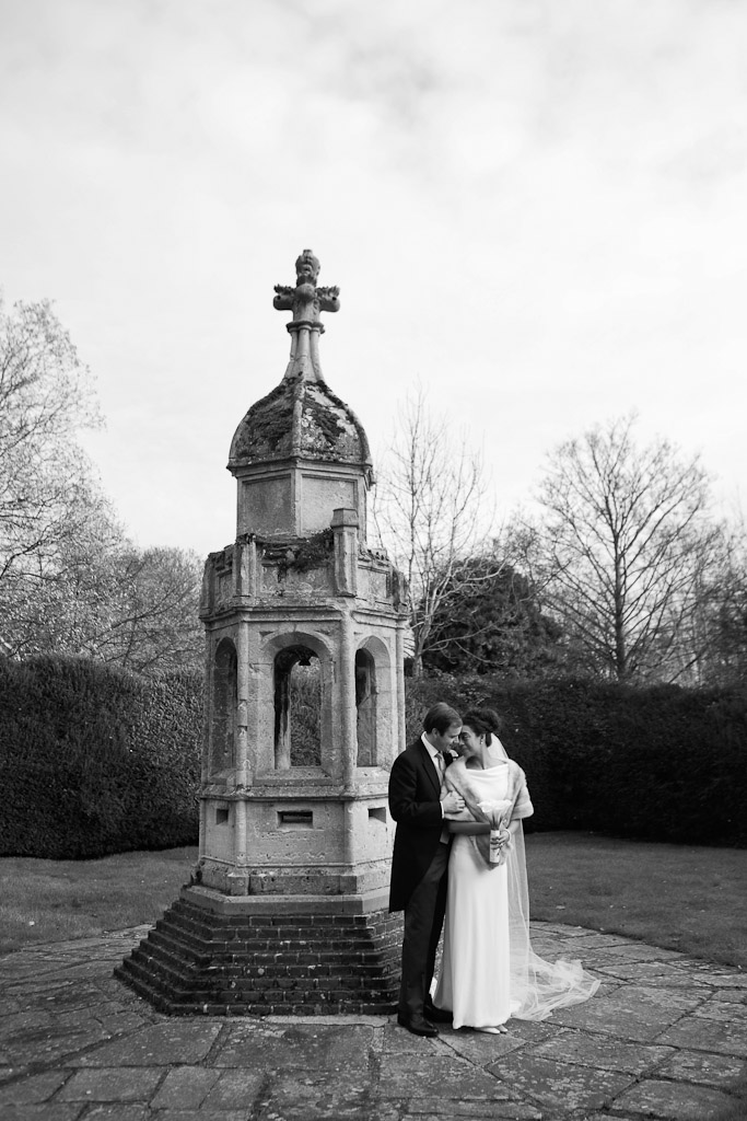 bride and groom photo at Leez Priory