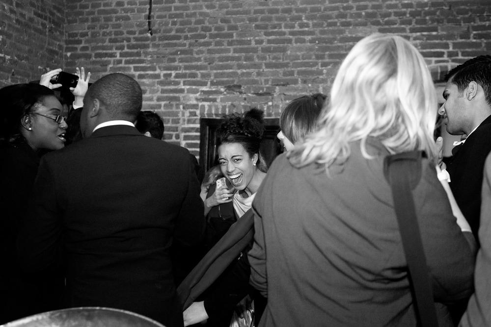 bride laughing during dancing