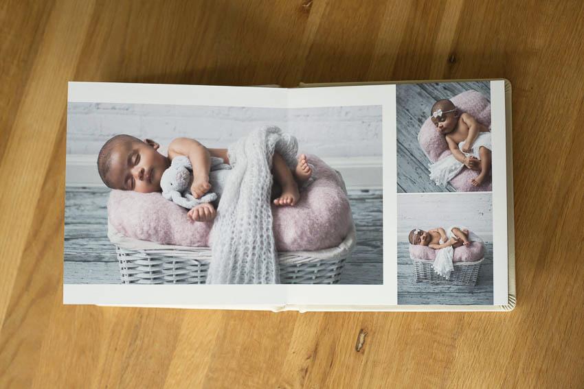 newborn baby photos in keepsake book
