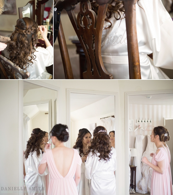 bridal preparations at the fennes