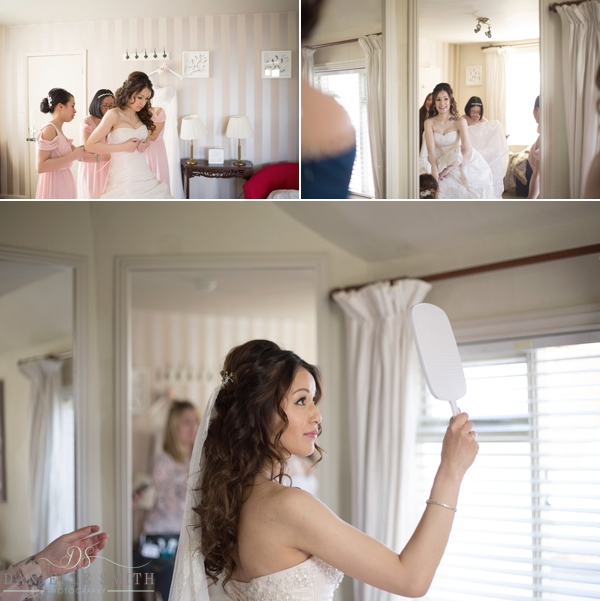bride getting ready - essex wedding photography