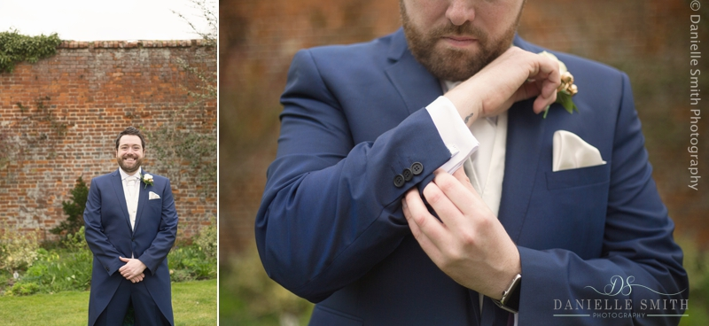 groom doing cufflinks