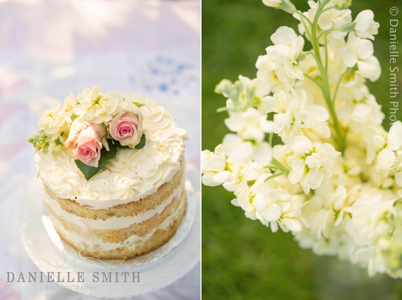 naked cake and flowers - cake smash chelmsford