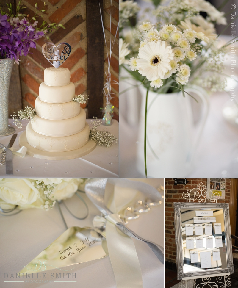 wedding cake and table decor