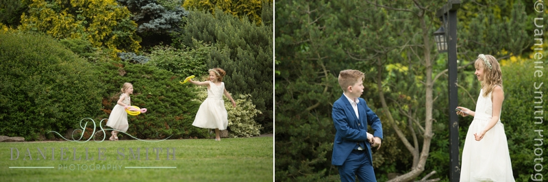 children playing at wedding