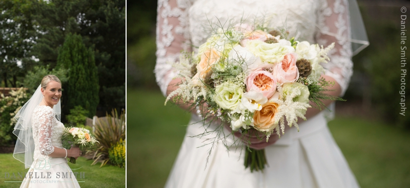 pastel colour bouquet - maidens barn wedding
