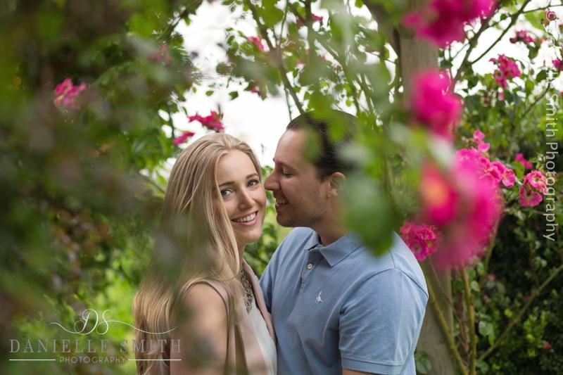 couple intimate photo - pre-wedding garden photo shoot