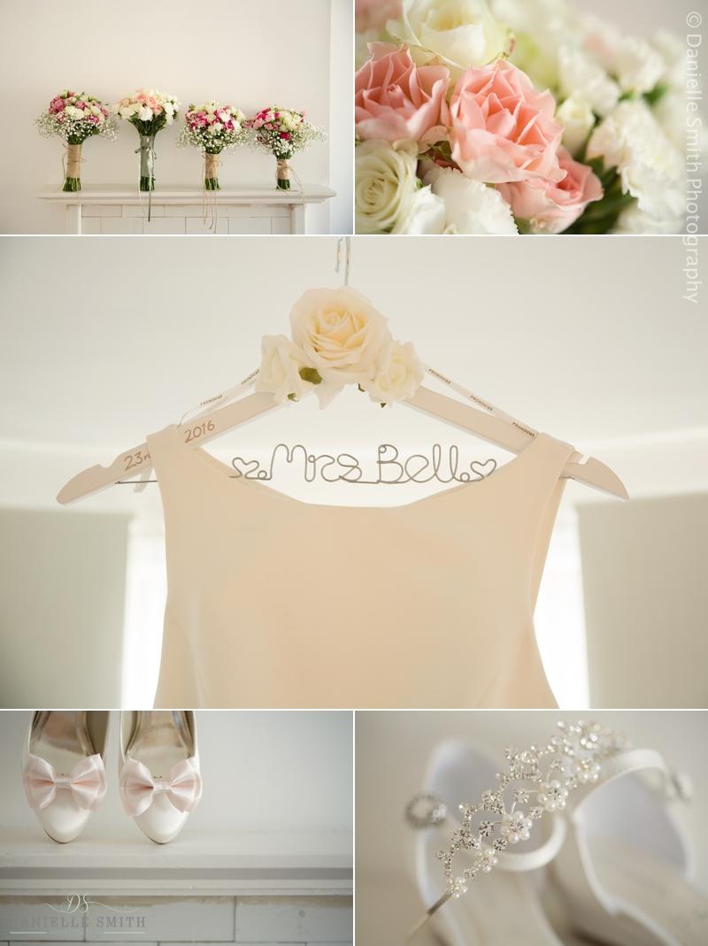 pastel colour bouquets and wedding details