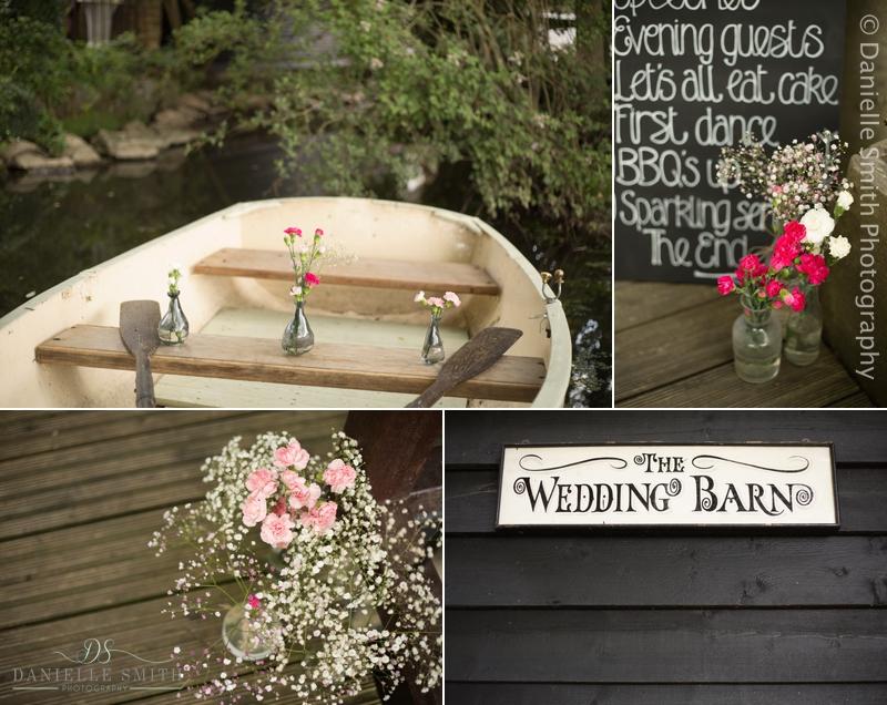 wedding decor details at old brook barn wedding