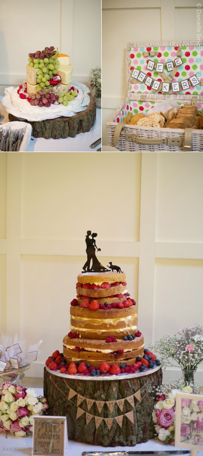 cheese cake and wedding cake