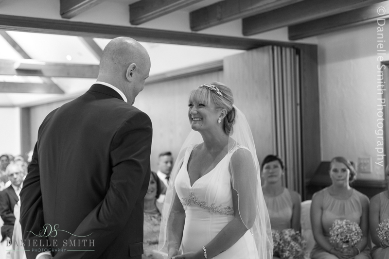 bride and groom during ceremony - mulberry house wedding