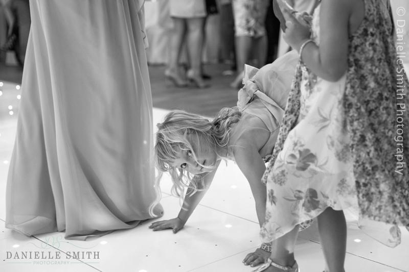 flower girl dancing on dance floor