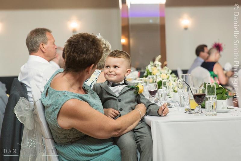 page boy and nan at wedding