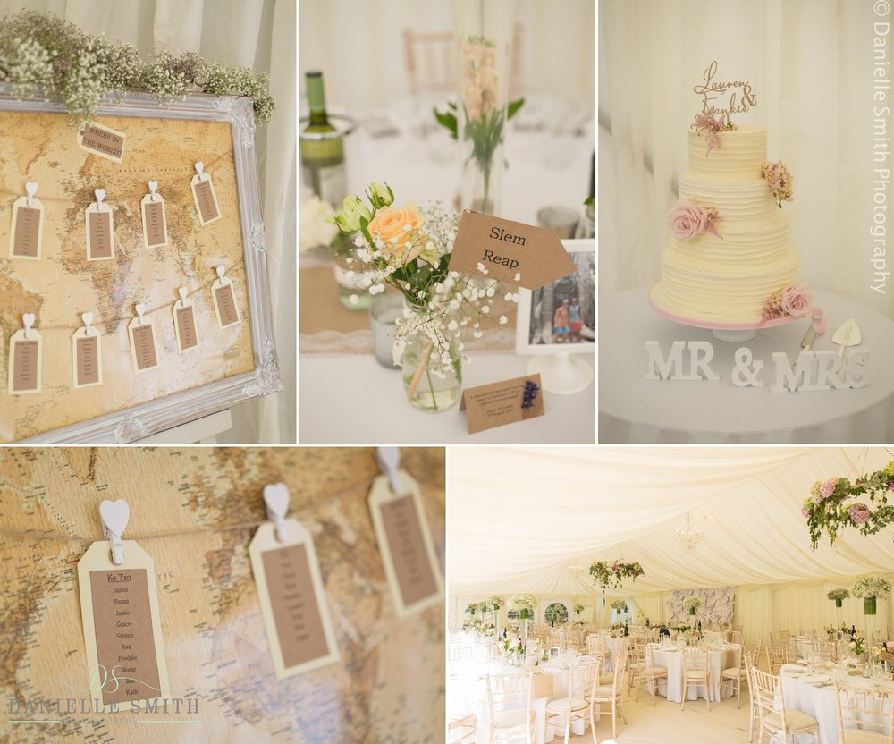 map table plan and ivory wedding cake